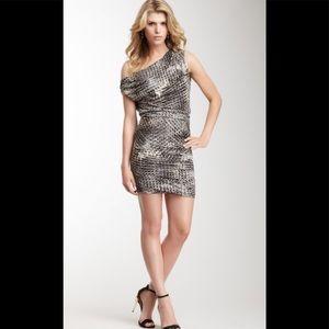 Halston Heritage Off the Shoulder Draped Dress M